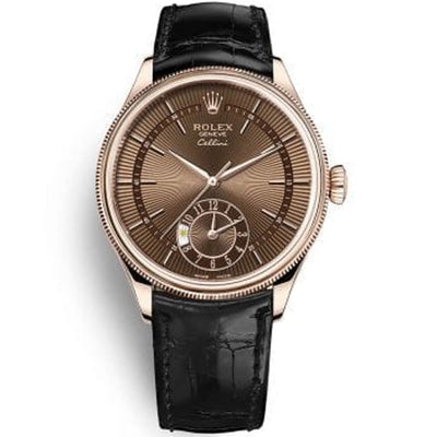 Rolex Cellini Dual Time 39mm 50525 Brown Dial