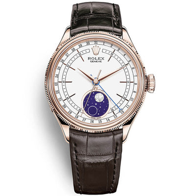 Rolex Cellini Moonphase 39mm 50535 White Dial