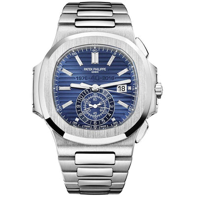 Patek Philippe 40th Anniversary Edition Nautilus Grand Complications 44mm 5976/1G Blue Dial-First Class Timepieces