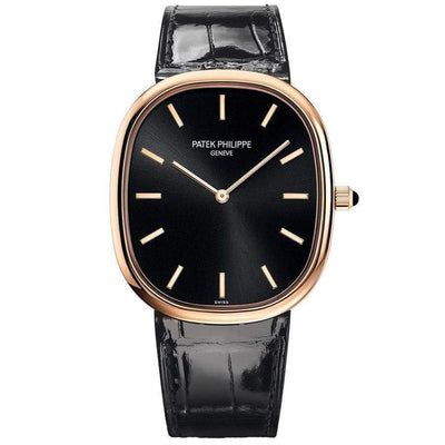 Patek Philippe 50th Anniversary Extra-Thin Golden Ellipse 34mm 5738R Black Dial - First Class Timepieces