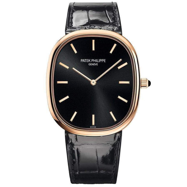 Patek Philippe 50th Anniversary Extra-Thin Golden Ellipse 34mm 5738R Black Dial-First Class Timepieces