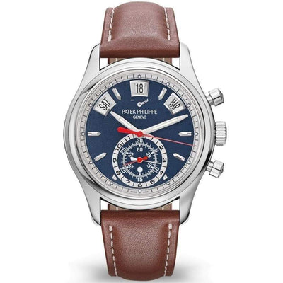 Patek Philippe Annual Calendar Chronograph Complication 40mm 5960/01G Blue Dial - First Class Timepieces