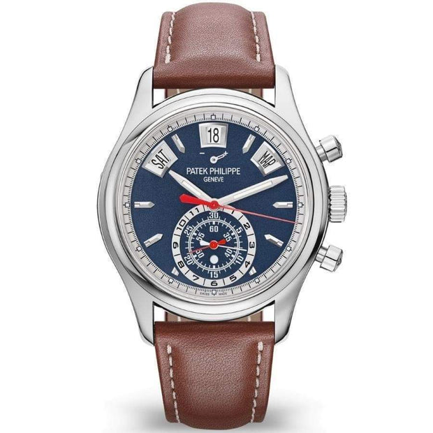 Patek Philippe Annual Calendar Chronograph Complication 40mm 5960/01G Blue Dial-First Class Timepieces