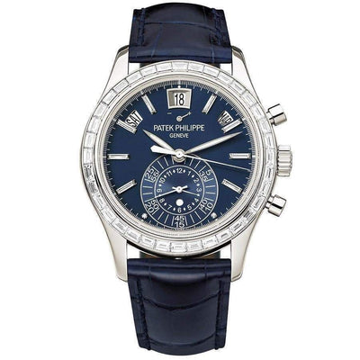 Patek Philippe Annual Calendar Chronograph Complication 40mm 5961P Blue Dial - First Class Timepieces