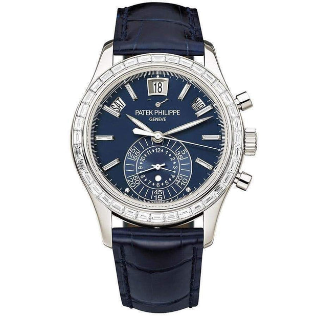 Patek Philippe Annual Calendar Chronograph Complication 40mm 5961P Blue Dial-First Class Timepieces