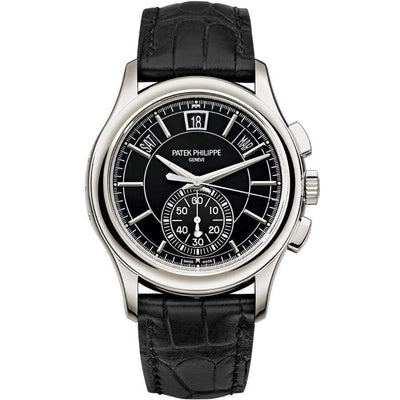 Patek Philippe Annual Calendar Chronograph Complication 42mm 5905P Black Dial - First Class Timepieces
