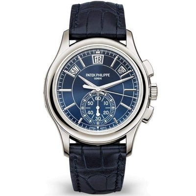 Patek Philippe Annual Calendar Chronograph Complication 42mm 5905P Blue Dial - First Class Timepieces