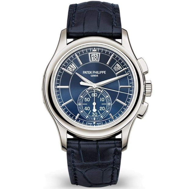 Patek Philippe Annual Calendar Chronograph Complication 42mm 5905P Blue Dial-First Class Timepieces