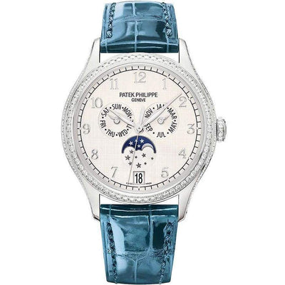 Patek Philippe Annual Calendar Complication 38mm 4947G Silver Dial - First Class Timepieces