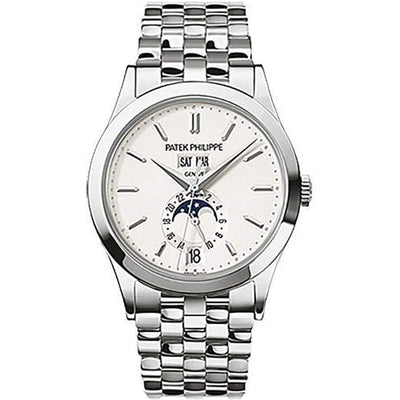 Patek Philippe Annual Calendar Complication 38mm 5396/1G Silver Dial - First Class Timepieces