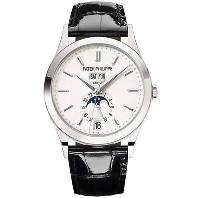 Patek Philippe Annual Calendar Complication 38mm 5396G Silver Dial - First Class Timepieces