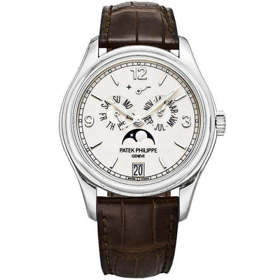 Patek Philippe Annual Calendar Complication 39mm 5146G Silver Dial - First Class Timepieces