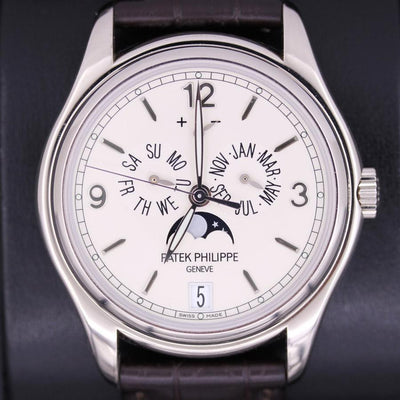 Patek Philippe Annual Calendar Complication 39mm 5146G Silver Dial Pre-Owned-First Class Timepieces