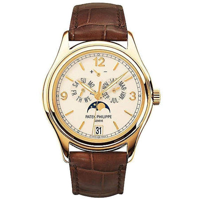 Patek Philippe Annual Calendar Complication 39mm 5146J Cream White Dial - First Class Timepieces