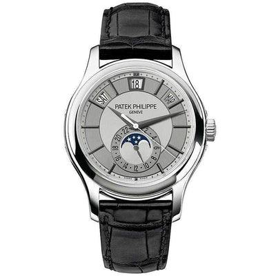 Patek Philippe Annual Calendar Complication 40mm 5205G Rhodium Dial - First Class Timepieces