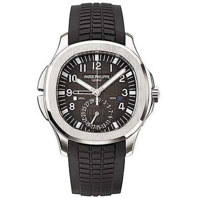 Patek Philippe Aquanaut Dual Time 40mm 5164A Black Dial-First Class Timepieces