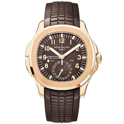 Patek Philippe Aquanaut Dual Time 40mm 5164R Brown Dial - First Class Timepieces