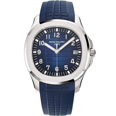 Patek Philippe Aquanaut White Gold 42mm 5168G Blue Dial-First Class Timepieces