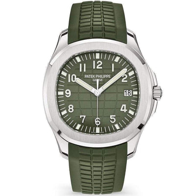 Patek Philippe Aquanaut White Gold 42mm 5168G Khaki Green Dial-First Class Timepieces