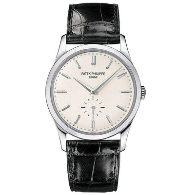Patek Philippe Calatrava 37mm 5196G Silver Dial - First Class Timepieces