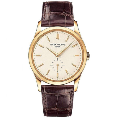 Patek Philippe Calatrava 37mm 5196J Sliver Dial - First Class Timepieces