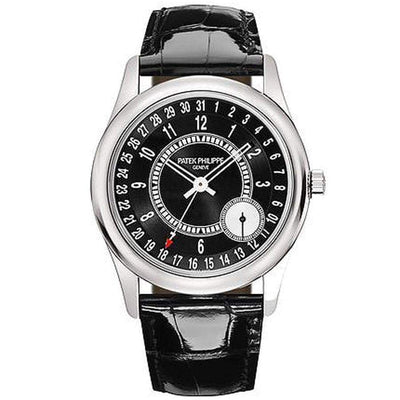 Patek Philippe Calatrava 39mm 6006G Black Dial - First Class Timepieces