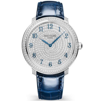 Patek Philippe Calatrava Diamond Ribbon Joaillerie 35mm 4978-400G-001 Diamond Dial-First Class Timepieces