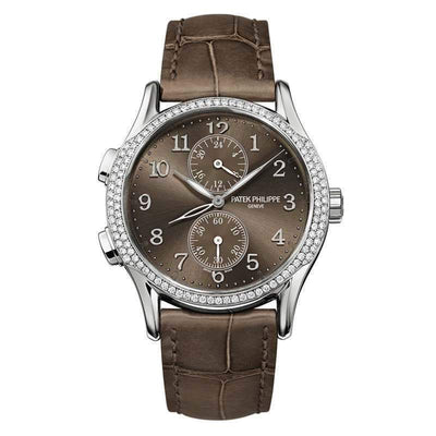 Patek Philippe Dual-Time Complication 35mm 7134G Brown Dial - First Class Timepieces