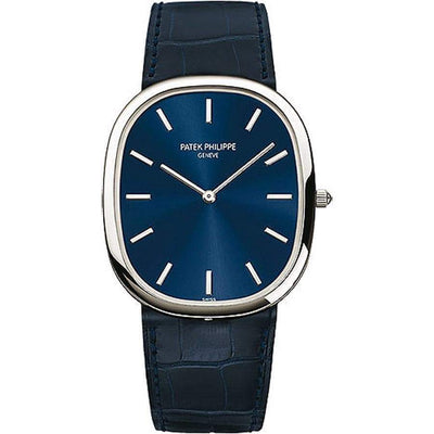 Patek Philippe Extra-Thin Golden Ellipse 34mm 5738P Blue Dial - First Class Timepieces