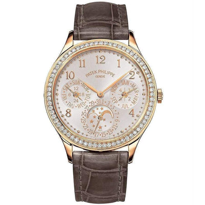 Patek Philippe Extra-Thin Grand Complications Perpetual Calendar Moon Phases 35mm 7140R Silver Toned - First Class Timepieces