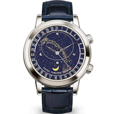 Patek Philippe Grand Complications Celestial Moon Age 44mm 6102P Blue Dial - First Class Timepieces