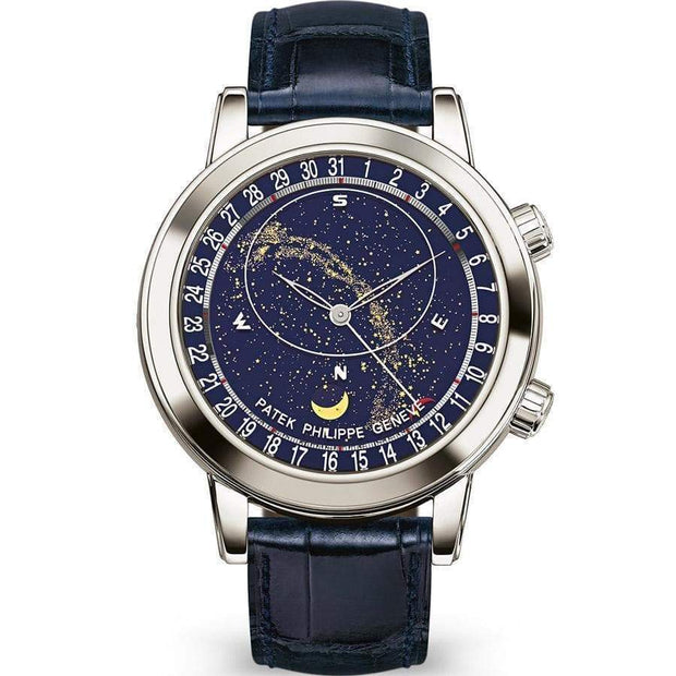 Patek Philippe Grand Complications Celestial Moon Age 44mm 6102P Blue Dial-First Class Timepieces