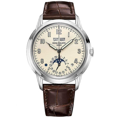 Patek Philippe Grand Complications Perpetual Calendar 40mm 5320G Silver Dial - First Class Timepieces