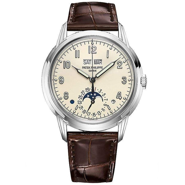 Patek Philippe Grand Complications Perpetual Calendar 40mm 5320G Silver Dial-First Class Timepieces