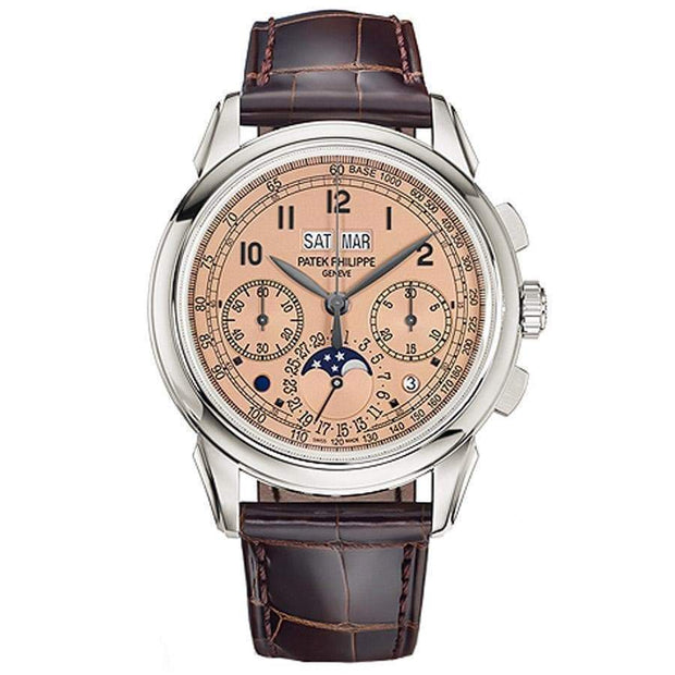 Patek Philippe Grand Complications Perpetual Calendar Chronograph 41mm 5270P Golden Opaline Dial - First Class Timepieces
