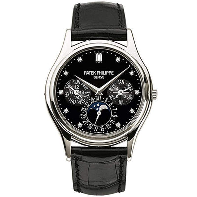 Patek Philippe Grand Complications Perpetual Calendar Moon Phase 37mm 5140P Black Dial - First Class Timepieces