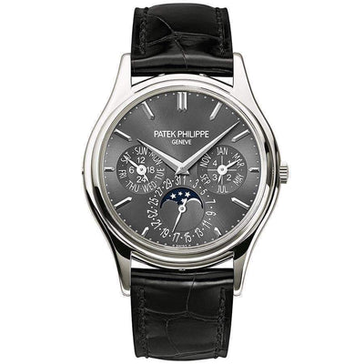 Patek Philippe Grand Complications Perpetual Calendar Moon Phase 37mm 5140P Grey Dial - First Class Timepieces