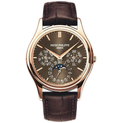 Patek Philippe Grand Complications Perpetual Calendar Moon Phase 37mm 5140R Brown Dial - First Class Timepieces