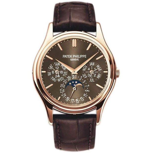 Patek Philippe Grand Complications Perpetual Calendar Moon Phase 37mm 5140R Brown Dial-First Class Timepieces