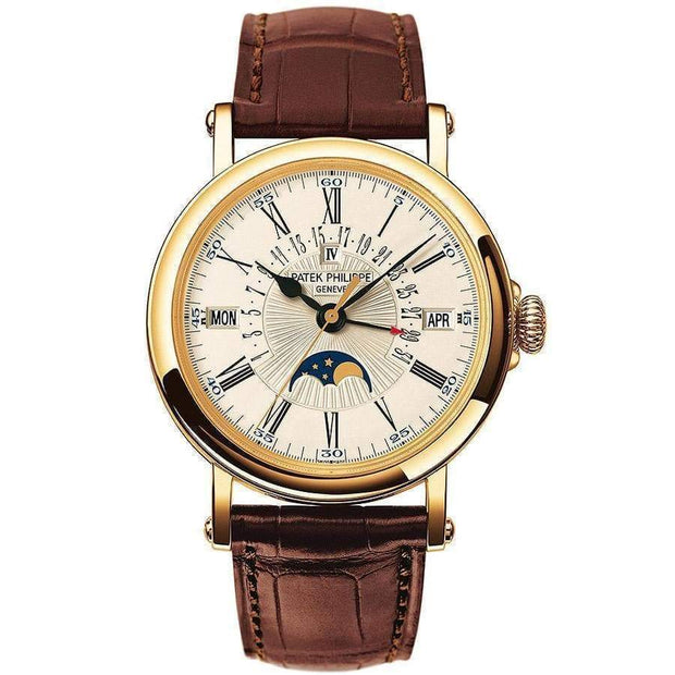 Patek Philippe Grand Complications Perpetual Calendar Moon Phase 38mm 5159J White Dial - First Class Timepieces