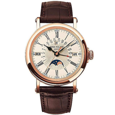 Patek Philippe Grand Complications Perpetual Calendar Moon Phase 38mm 5159R White Dial-First Class Timepieces