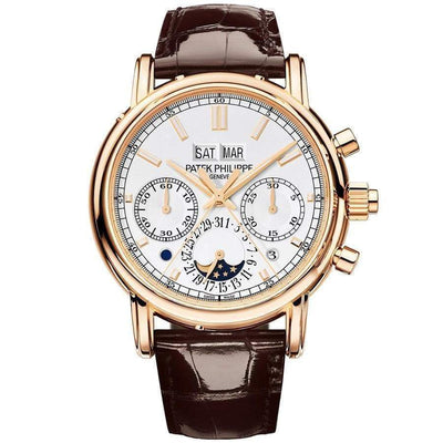 Patek Philippe Grand Complications Split-Seconds Chronograph Perpetual Calendar 40mm 5204R Silver Dial-First Class Timepieces
