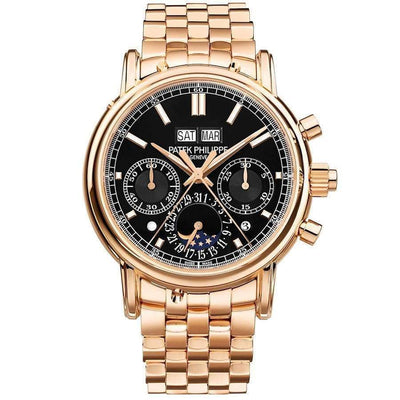 Patek Philippe Grand Complications Split-Seconds Perpetual Calendar Chronograph 40mm 5204/1R Black Dial-First Class Timepieces
