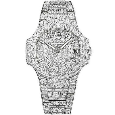 Patek Philippe Nautilus 33mm 7021/1G Diamond Dial - First Class Timepieces