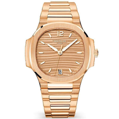 Patek Philippe Nautilus 35mm 7118/1R Rose Gold Dial-First Class Timepieces