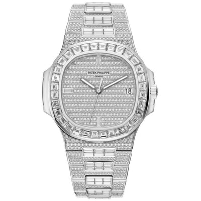 Patek Philippe Nautilus 40mm 5719-10G-010 Diamond Dial-First Class Timepieces