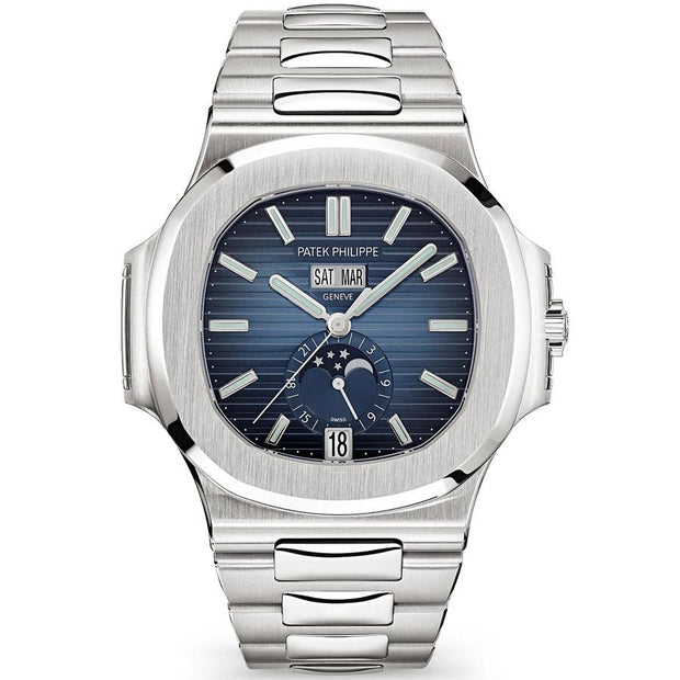 Patek Philippe Nautilus Annual Calendar Moon Phase 40mm 5726-1A-014 Blue Dial-First Class Timepieces
