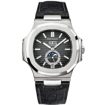 Patek Philippe Nautilus Annual Calendar Moon Phase 40mm 5726A Black Dial-First Class Timepieces