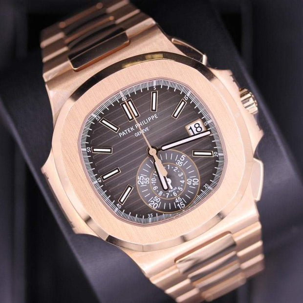Patek Philippe Nautilus Chronograph 40mm 5980/1R Black Dial-First Class Timepieces