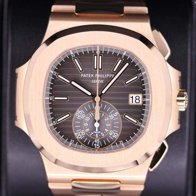 Patek Philippe Nautilus Chronograph 40mm 5980/1R Black Dial Pre-Owned-First Class Timepieces